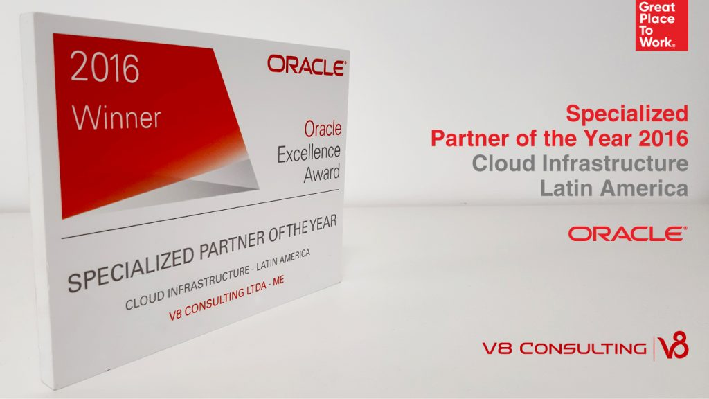 Specialized Partner of the Year 2016 - Cloud Infrastructure - Oracle